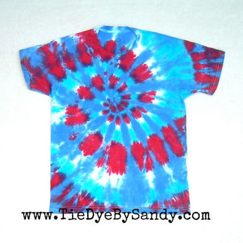CLEARANCE: Child Large Red, White, and Blue Tie Dye Shirt