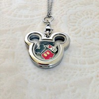 Mickey inspired locket with charms and choice of chain