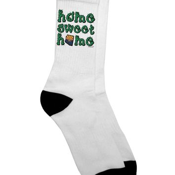Home Sweet Home - Arizona - Cactus and State Flag Adult Crew Socks by TooLoud