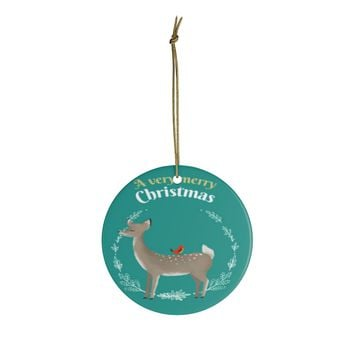 Great Ceramic Christmas Ornaments For Deer Lovers - A Very Merry Christmas Ornament Holiday Gift