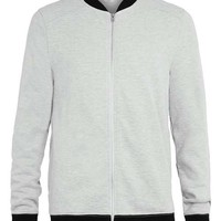 Grey Contrast Bomber Jacket