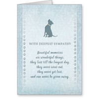 Pitbull Dog Sympathy Beautiful Memories Card