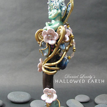 Magic Flourite Wand - CHERRY BLOSSOM FAERY - Realm of Faery- Handmade by Daniel Lovely #magicwand #magic #fairy