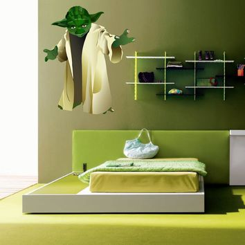 cik1275 Full Color Wall decal Star Wars Jedi master Yoda bedroom children's room