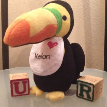 Personalized Stuffed Toucan by langanfamilyfinds on Etsy