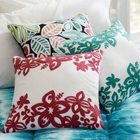 Surf Crewel Pillow Covers