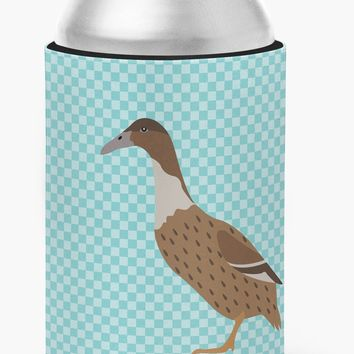 Dutch Hook Bill Duck Blue Check Can or Bottle Hugger BB8035CC