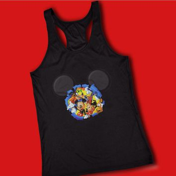 Disney Silhouettes Mickey Mouse And Frieds Women'S Tank Top