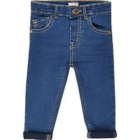 River Island Mini girls bright blue skinny jeans