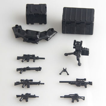 Pogo Military Series Third-party Weapons Pack Brick For Army Soldier Minifigure SWAT Shotgun Police Compatible With Lego