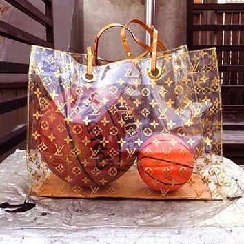 LV Bag Transparent Bag Plastic Bag Women Fashion Shoulder Bag B-KR-PJ