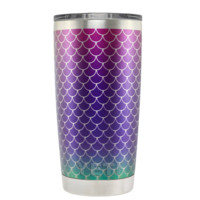 YETI Mermaid Seafoam Purple Scales on 20 oz Tumbler