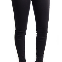 Skinny Mini Black Jeggings - Machine Jean Brand