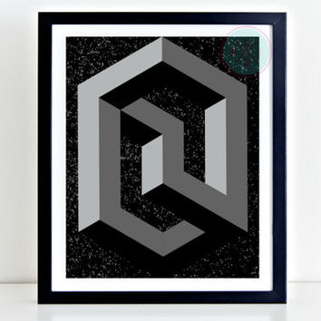 Abstract Printable Art,Abstract Prints, Instant Download, Scandinavian Poster, Geometric Wall Decor, Abstract Geometric Print, Gift For Him