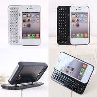 Creative Sliding Bluetooth Wireless Keyboard  Case Cover for Iphone4/4s/5