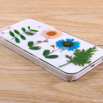 Pressed Flower Daisy iPhone 5 case, iPhone 4 case, iPhone 4s case, iPhone 5s case, iPhone 5c case, Galaxy S4 S5 Note 3 - 01032