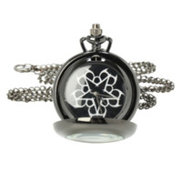 Black Veil Brides Logo Pocket Watch Necklace