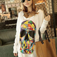 Abstract Skull Shirt