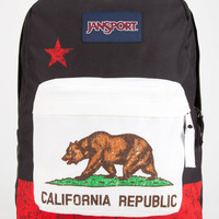 Jansport Cali Bear Superbreak Backpack Red New California Republic One Size For Men 25731112601