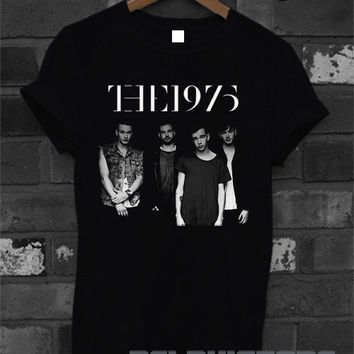 the 1975 shirt the 1975 band t-shirt printed black unisex size (DL-38)
