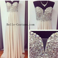 Strapless Prom Dress, Long Prom Dresses, Strapless Evening Dresses