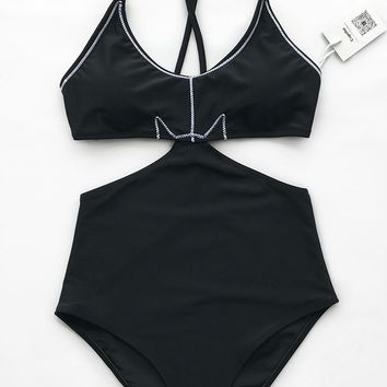 Cupshe Lunatic Devil Solid One-piece Swimsuit