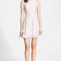 Women's Jay Godfrey 'Bautista' Floral Burnout Fit & Flare Dress