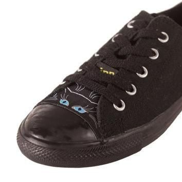 Converse All Star CIPPCAP skin Black Cat Sneakers Shoes New Easy Diy Custom Chuck Tay