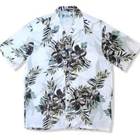 nalu grey hawaiian rayon shirt