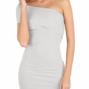 Tiffany Off The Shoulder Asymmetrical Bandage Mini Dress
