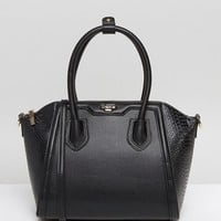 Dune Structured Tote Bag With Crossbody Strap at asos.com