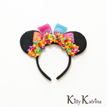 Rainbow Minnie Mouse Ears Headband, Mouse Ears Headband, Minnie Ears, Disney Bound, Disney Headband, Disney Cosplay, Disney Ears, Disneyland