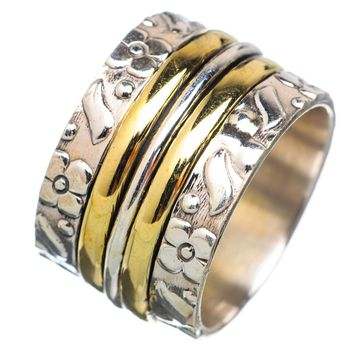 Spinner Ring -  Two Tone Triple Spinners