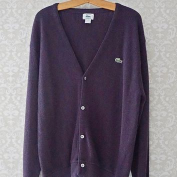 Vintage 1980s Heather + Cardigan Sweater