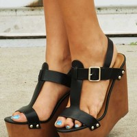 Take For Granted Wedges: Black