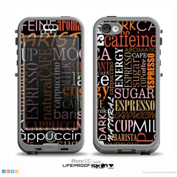The Cafe Word Cloud Skin for the iPhone 5c nüüd LifeProof Case
