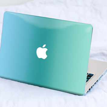 Blue Green Ombre - MacBook Decal, Chromebook, Asus and more, Vinyl Skin, MacBook decal, sticker MacBook Pro Retina Cover MacBook Air, Acer