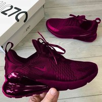 Nike Wmns Air Max 270 Flyknit Atmospheric cushion shock absorber air cushion running shoes