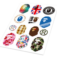 A4 Camouflage Aape BAPE Car Styling Hellaflush Graffiti Doodle Sticker Auto Motorcycle Bike Laptop Skatboard Phone DIY Decals