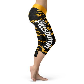 Pittsburgh Football Camo Capris