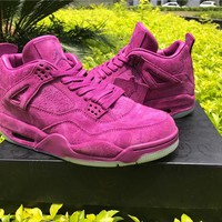"KAWS x Air Jordan 4 ""purple"" Basketball Shoes 36-47"