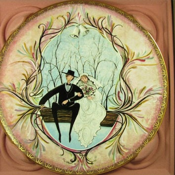 """ANNA PERENNA Buckley Moss""""The Wedding"""" Collector Plate New! mib! Rare! #1396 FREE Shipping!"""