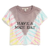 Girl's Billabong 'No Bad Tides' Tie Dye Crop Top