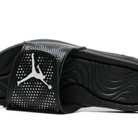 PEAPONVX Jacklish All Black Jordan Hydro 5 Slide Sandals For Sale