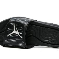 PEAP All Black Jordan Hydro 5 Slide Sandals For Sale