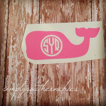 Whale Monogram ~ Vineyard  Vine style