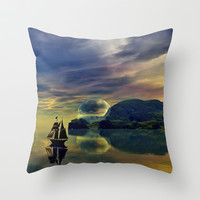 Reflection Bay Throw Pillow by Sandra Bauser Digital Art