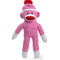 Pink Sock Monkey Plush Doll - 40 Inches Tall