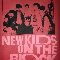May On Sale 30% Off Rare Vintage New Kids On The Block Tshirt 1980s Hip Hop pop 80s Line up Tee Memorabilia R&B Nostalgia T Shirt Screen Sta
