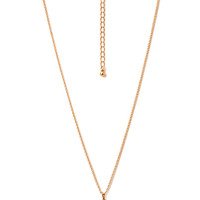 FOREVER 21 Tiny Dreamcatcher Pendant Necklace Turquoise/Gold One